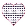 3 Inch Reverse Heart Fill Stitch