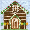 Gingerbread House In-the-hoop Christmas Quilt Block