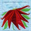 Poinsettia In-the-hoop Christmas Quilt Block