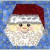 Santa 2 In-the-hoop Christmas Quilt Block