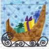 Sleigh In-the-hoop Christmas Quilt Block