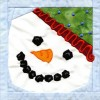 Snowman In-the-hoop Christmas Quilt Block