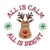 All Is Calm Christmas Embroidery Design