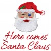Here Comes Santa Christmas Embroidery Design