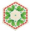 Mistletoe Hexagon Ornament Embroidery Design