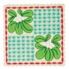Mistletoe Checkered Square Ornament Design