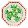 Mistletoe Hexagon 2 Ornament Embroidery Design