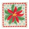 Poinsettia Square Ornament Embroidery Design
