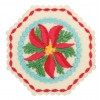 Poinsettia Hexagon 2 Ornament Embroidery Design