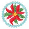Small Poinsettia Circle 2 Ornament Design