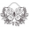 Butterfly 14 Zen Garden Sketch Embroidery Design