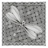 Dragonfly Panel Zen Garden Embroidery Design