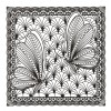 Butterfly Panel 2 Zen Garden Embroidery Design