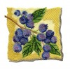 Blueberries On The Stem Embroidery Design