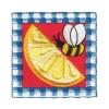 Lemon Wedge with Bee
