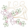 Horn And Holly Embroidery Design