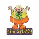 Candy Corn Boo Crew Embroidery Design