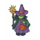 Cute Witch Boo Crew Embroidery Design