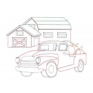 Truck and Barn Good Morning Heartland Embroidery Design