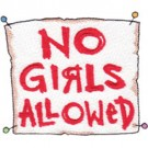No Girls Sign