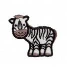 Zebra In-the-hoop Keychain Embroidery Design
