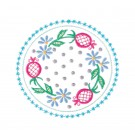 Circle 1 Wing Needle Roses Embroidery Design