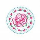 Circle 3 Wing Needle Roses Embroidery Design