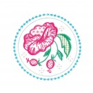 Circle 4 Wing Needle Roses Embroidery Design