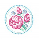 Circle 5 Wing Needle Roses Embroidery Design