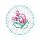Circle 7 Wing Needle Roses Embroidery Design