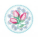 Circle 9 Wing Needle Roses Embroidery Design