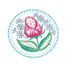 Circle 10 Wing Needle Roses Embroidery Design