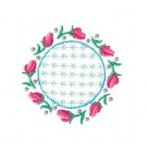 Circle 12 Wing Needle Roses Embroidery Design