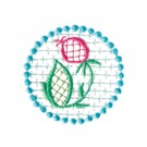 Circle 13 Wing Needle Roses Embroidery Design