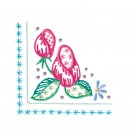 Corner 1 Wing Needle Roses Embroidery Design