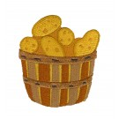 Basket of Potatoes Fall Farmers Market Embroidery Design