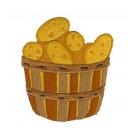 Basket of Potatoes Fall Farmers Market Embroidery Design