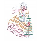 Belle and Tree Merry Belles Embroidery Design