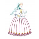 Caroling Belle Merry Belles Embroidery Design
