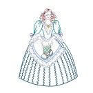 Christmas Stocking Merry Belles Embroidery Design