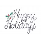 Happy Holidays Merry Belles Embroidery Design