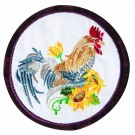 Rooster Seasonal Coasters Embroidery Design