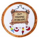 Out Fishing Seasonal Coasters Embroidery Design