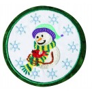 Snowman Seasonal Coasters Embroidery Design
