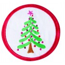 Christmas Tree Seasonal Coasters Embroidery Design