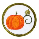 Pumpkin Seasonal Coasters Embroidery Design