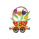 Flower Car Cottontail Express Embroidery Design