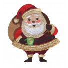 Coffee Santa Cuppa Christmas Embroidery Design