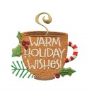 Warm Wishes Cuppa Christmas Embroidery Design