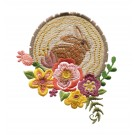 Rabbit and Flowers Woodland Adventure Embroidery Design